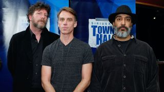 "Ben Shepherd, Matt Cameron and Kim Thayil of Soundgarden attend ""SiriusXM's Town Hall with Soundgarden"" with moderator Taylor Hawkins>> at Electric Lady Studios in New York City"