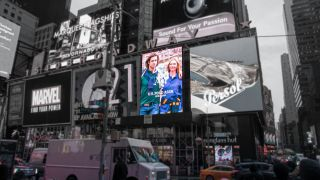 The 8mm pixel pitch LED display billboard measures 24 feet wide by 36 feet high and is located above US Polo at 1540 Broadway in the center of Times Square.