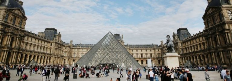 A general view of the Louvre on June 09, 2019 in Paris, France