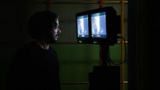 Edgar Wright on the set of Last Night in Soho