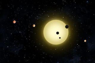 Kepler-11 system art