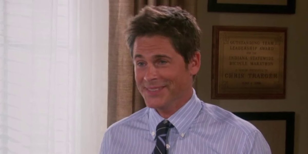 Rob Lowe as Chris Traeger in Parks and Recreation