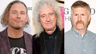 Corey Taylor, Brian May and Bill Kelliher