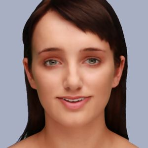 Evie, a chatbot avatar that uses the Cleverbot software. Credit: Existor