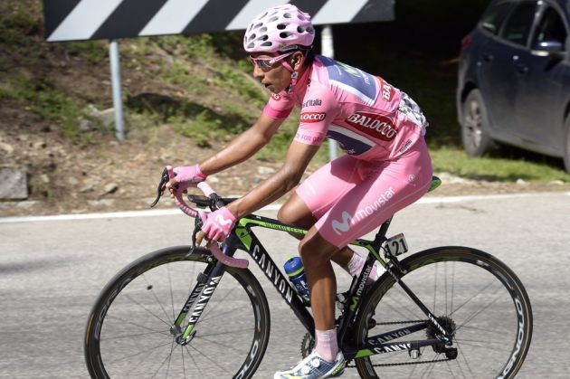 Nairo Quintana on stage eighteen of the 2014 Giro d'Italia