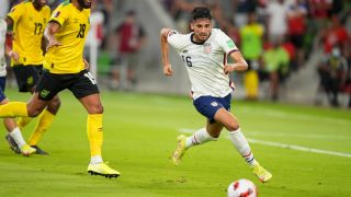 Ricardo Pepi plays for the USMNT in World Cup Qualifying match