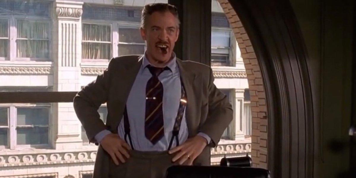 J.K. Simmons as J. Jonah Jameson in 2002's Spider-Man