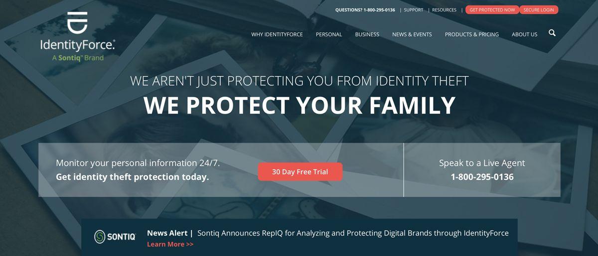IdentityForce identity theft protection service