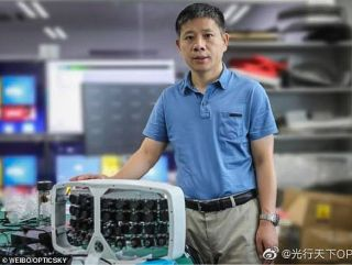 Xiaoyang Zeng, a scientist from Fudan University with the new 'Super Camera'