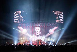 Queen performing live