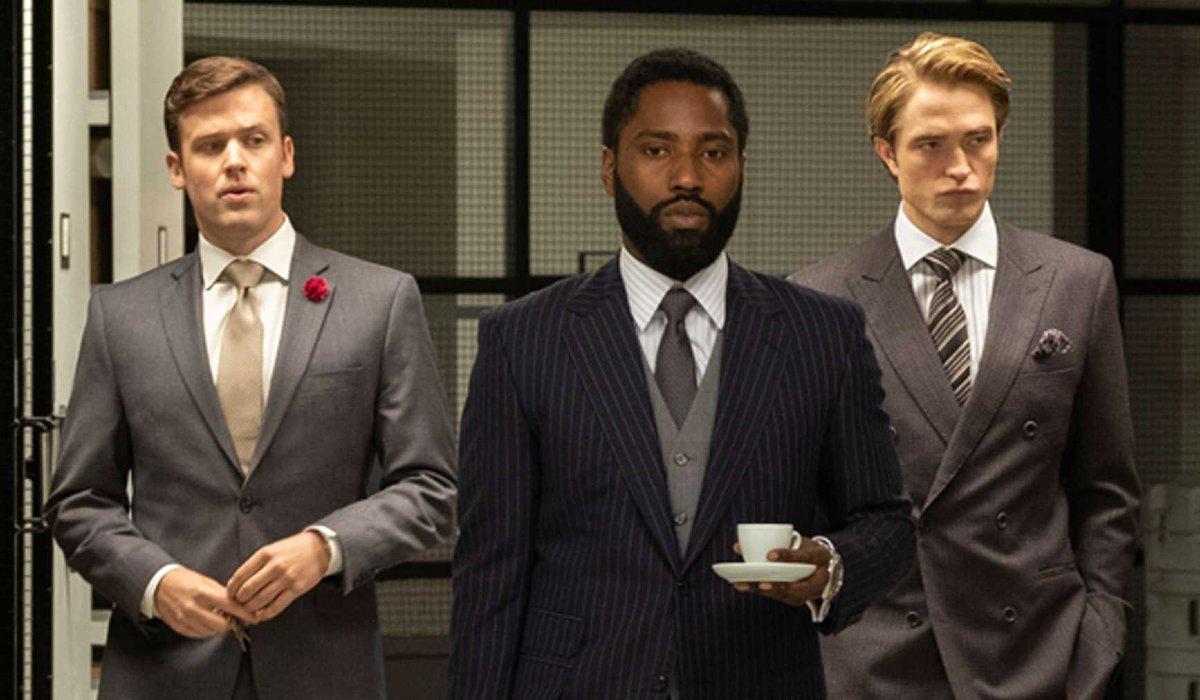 Tenet John David Washington and Robert Pattinson touring a vault