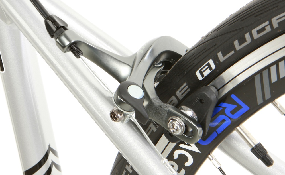 Tiagra brakes are more efficient and better modulated