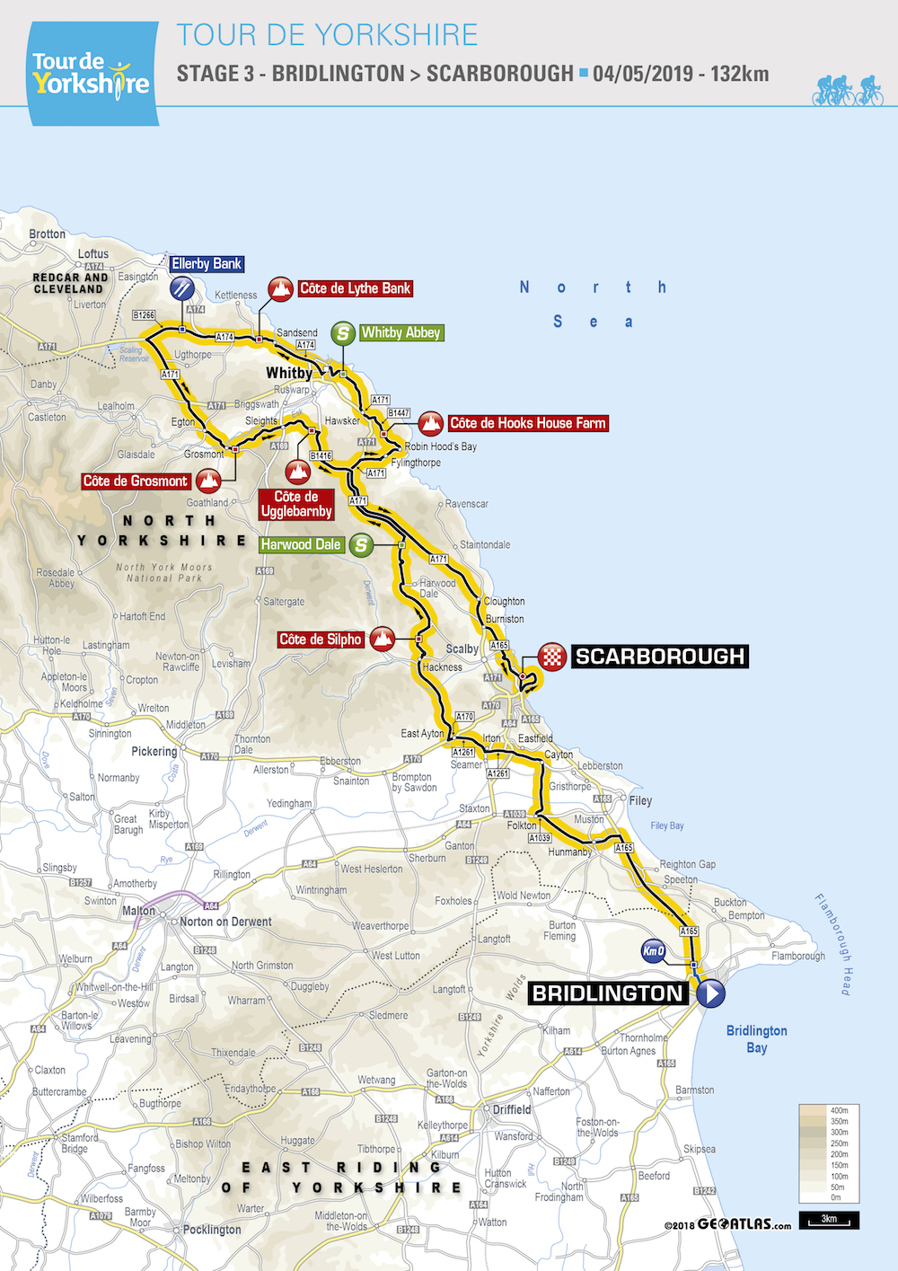 Tour de Yorkshire route 2019: maps and profiles of every stage