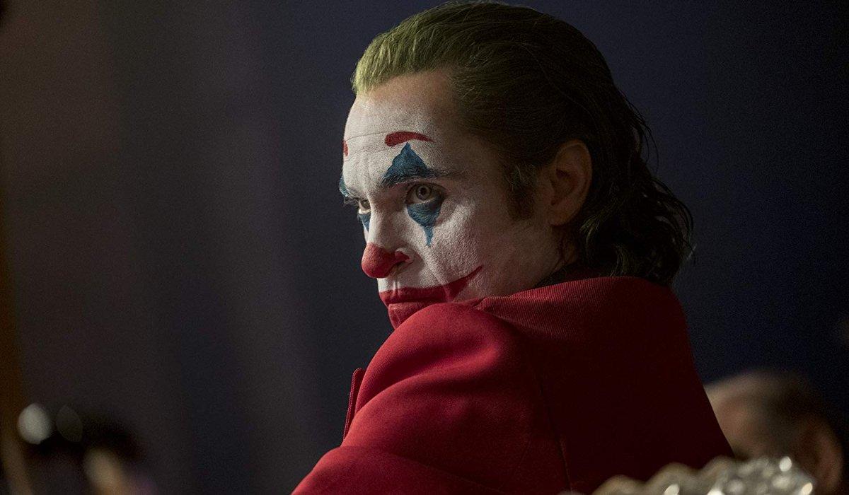 Joker scowling on live TV