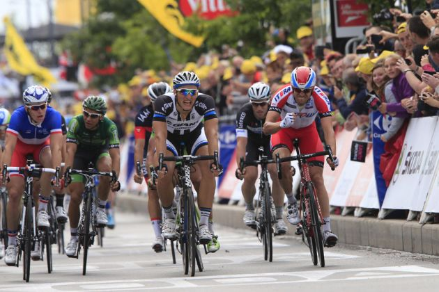 Marcel Kittel wins stage four of the 2014 Tour de France