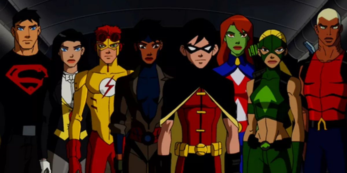 The cast of Young Justice