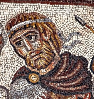 The new mosaic discovered in an ancient synagogue in Israel depicts a story from Jewish legend. Alexander is one of the characters from the legend.