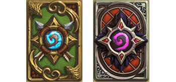 Medivh and Alleria card backs