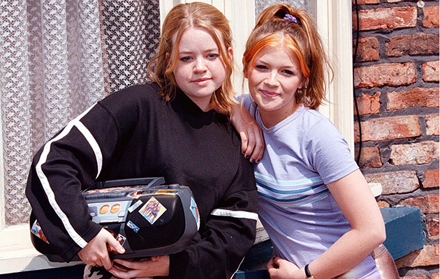 Georgia Taylor and Jane Danson celebrate 21 years of Corrie's Battersby sisters