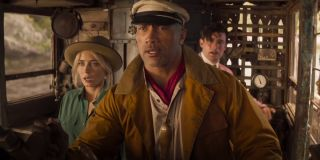 Emily Blunt, Dwayne Johnson, and Jack Whitehall in Jungle Cruise