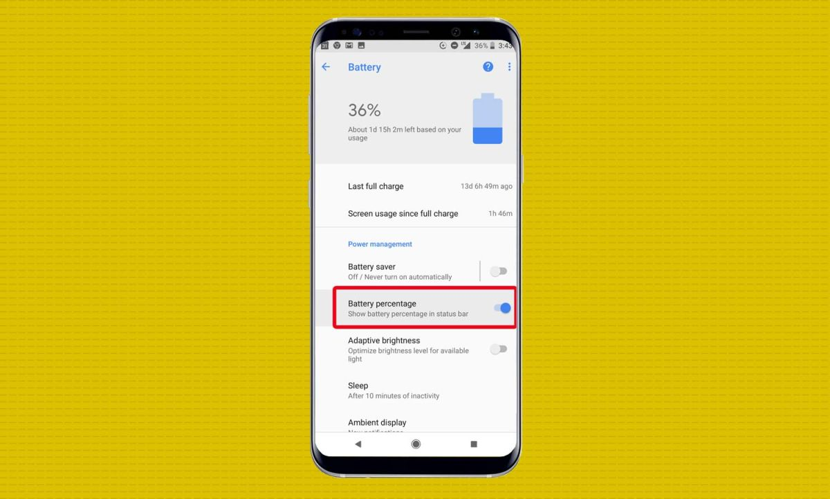 How to Show Your Phone's Battery Percentage in Android Oreo