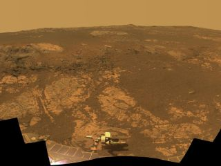 Opportunity on Martian 'Matijevic Hill'