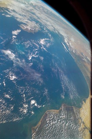 Earth View From Space Shuttle Columbia