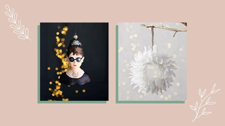 A collage image of the best Christmas decorations as picked by w&h