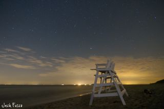 Photographer Jack Fusco captured this serene view of a Bootid meteor over Cape May, N.J., at 2 a.m. ET on June 28, 2012.