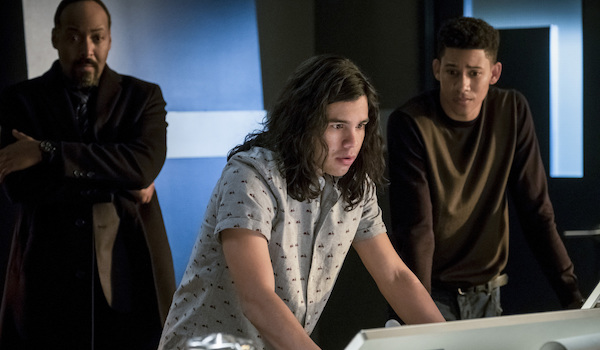 joe cisco and wally worried on the flash