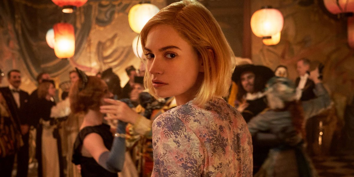 Lily James in Netflix's Rebecca
