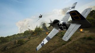 Medal of Honor: Above and Beyond screenshot fighter plane in battle