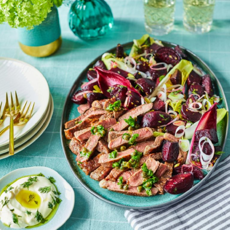 Spring beef with beetroot