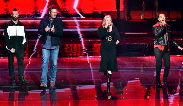 the voice coaches performing at nbc upfronts