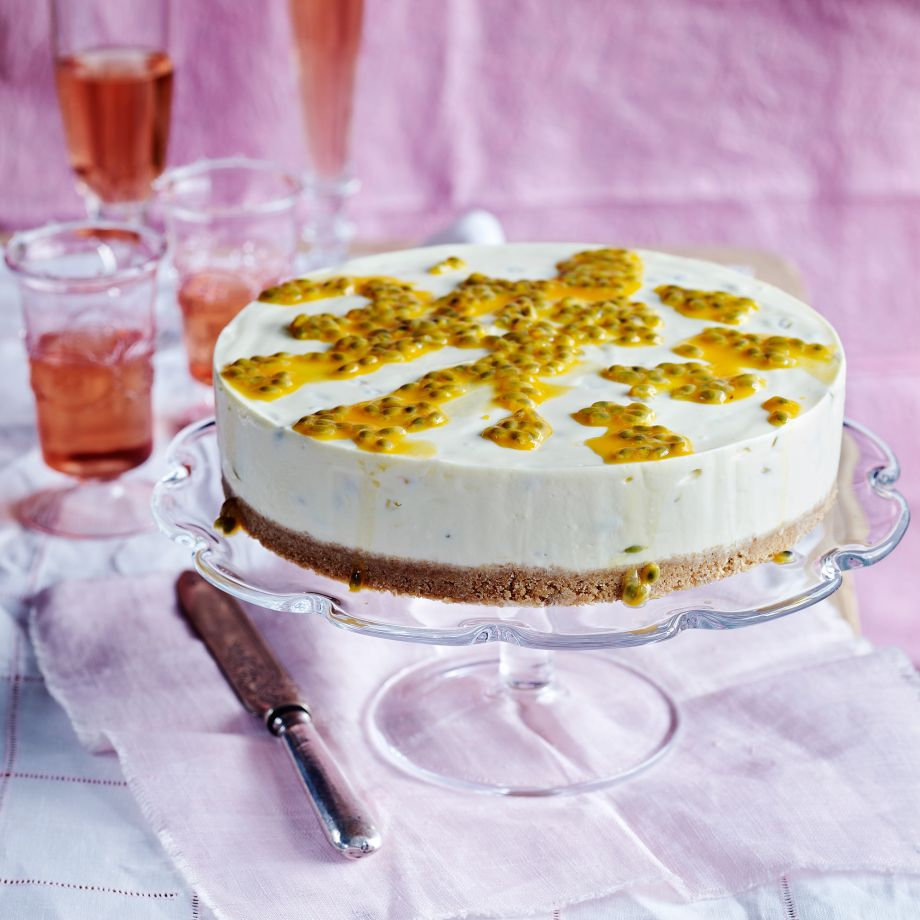 Watch White Chocolate, Lime And Passion Fruit Cheesecake Recipe video