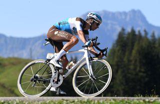AG2R La Mondiale's Mikaël Cherel descends mon stage 18 of the 2020 Tour de France