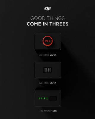 DJI is teasing three upcoming launches on social media