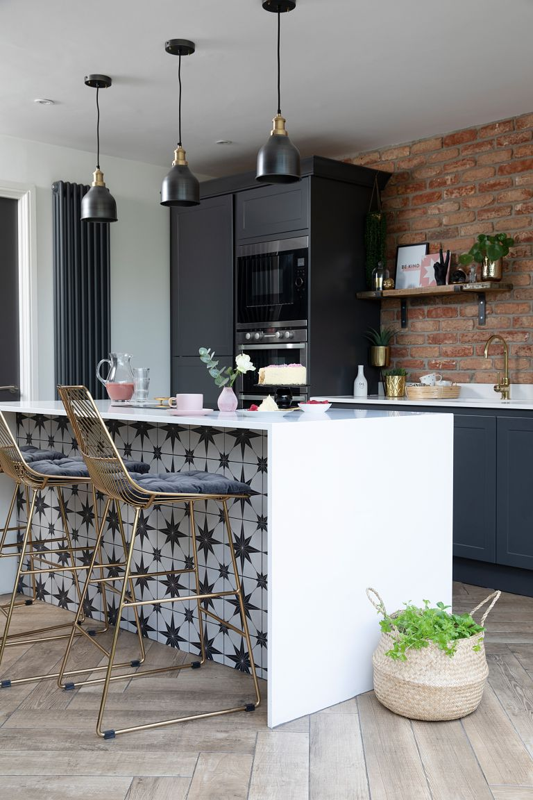 By knocking through rather than extending, Helen McLean now has the modern industrial kitchen she'd always wanted for a fraction of the cost