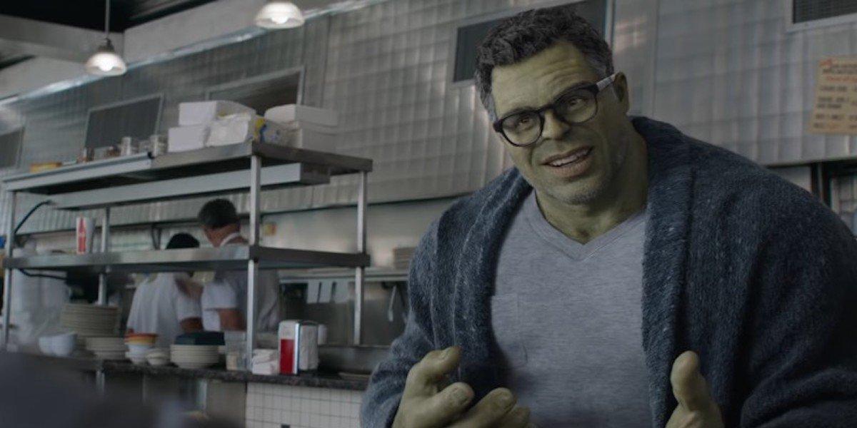 mark ruffalo smart hulk avengers endgame diner