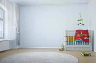 nursery, crib
