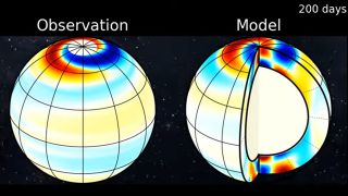Long plasma waves discovered on the sun originate deep underneath its surface.