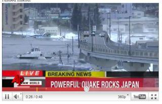 tsunami strikes japan