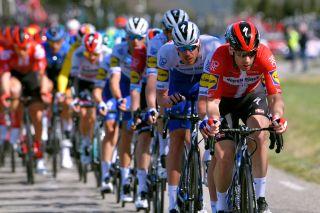 Michael Morkov leads the line for Deceuninck-QuickStep