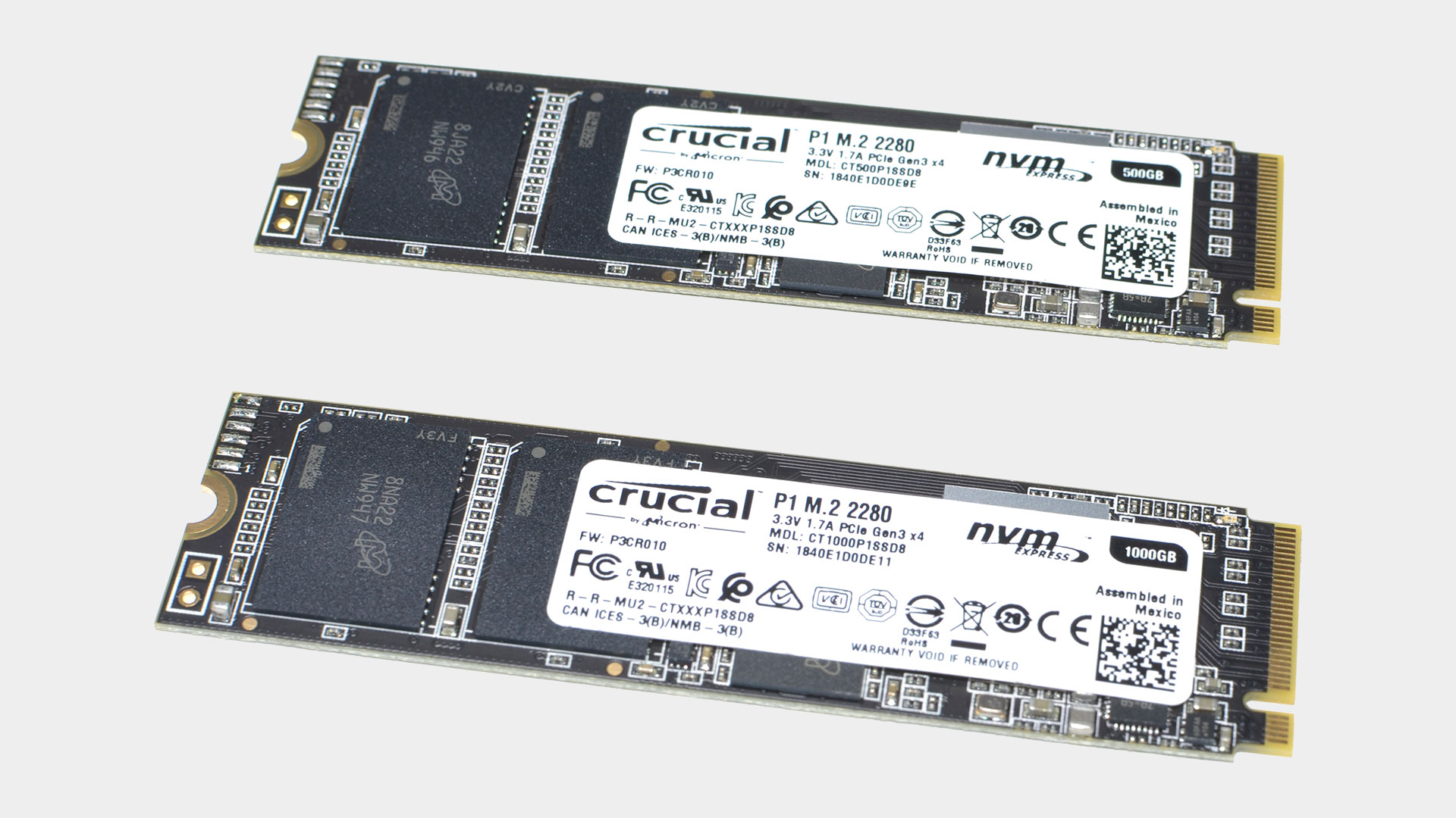 Crucial P1 500GB and 1TB SSDs