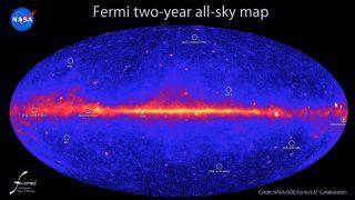 fermi two year sky map