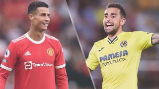 Cristiano Ronaldo of Manchester United and Paco Alcacer of Villarreal