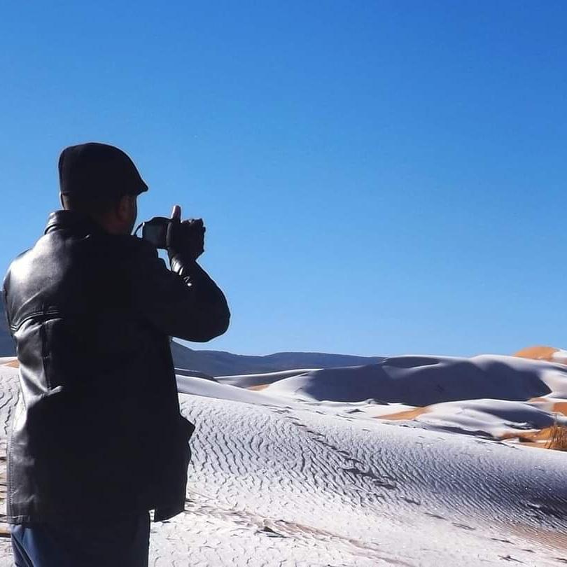 Photographer Karim Bouchetata takes in the surreal, icy landscape around him.