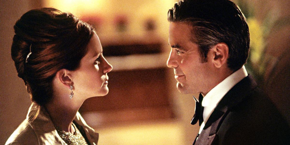 Julia Roberts and George Clooney in Ocean's Eleven