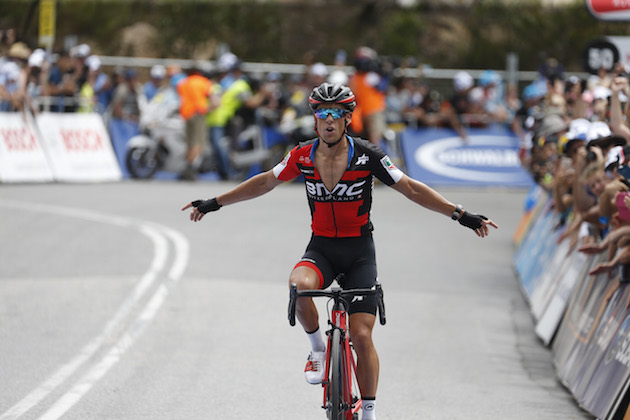 Richie Porte won on Willunga Hill for the fifth year in succession (Credit   Sunada) 7693006b3