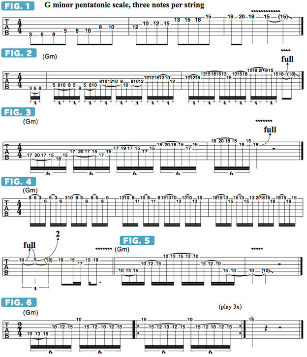 Using Monster Three-Notes-Per-String Pentatonic Patterns to Efficiently Traverse the Fretboard | Guitarworld